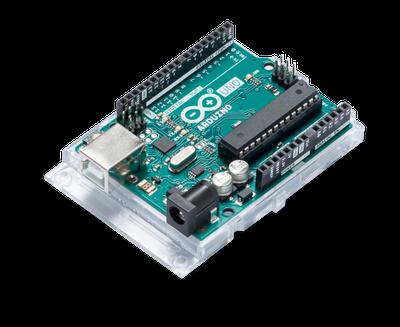De Arduino Uno, een gebruiksvriendelijk bordje om microcontrollers te leren programmeren. (Bron: Arduino)