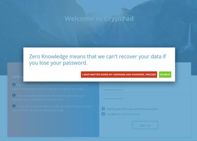 CryptPad gebruikt end-to-end encryptie